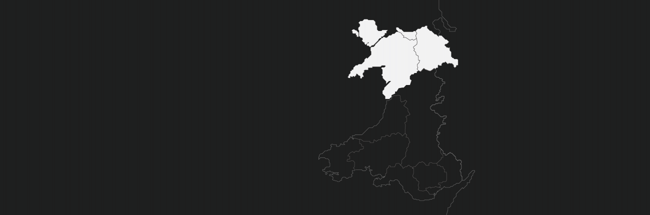 Outline Map of North Wales